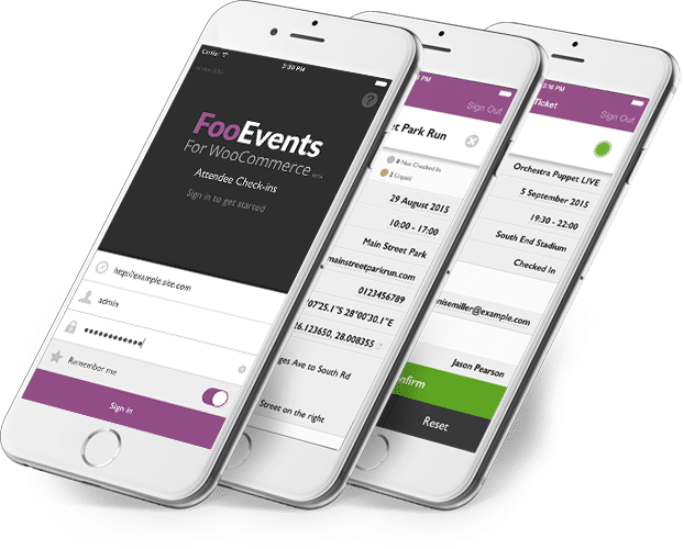 FooEvents Check-ins Apps - FooEvents for WooCommerce