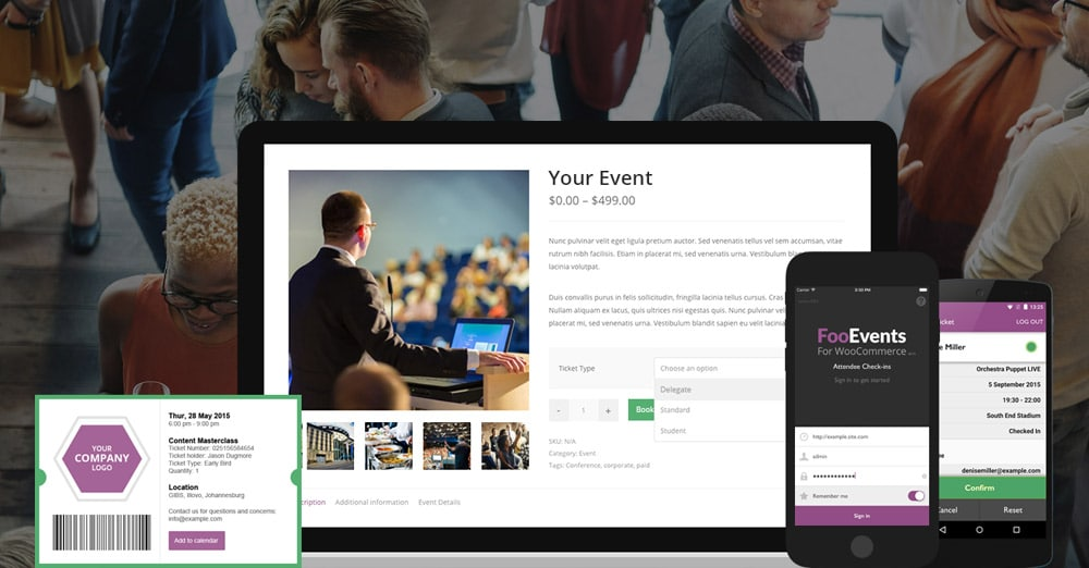 Sell Tickets and Manage Events - FooEvents for WooCommerce