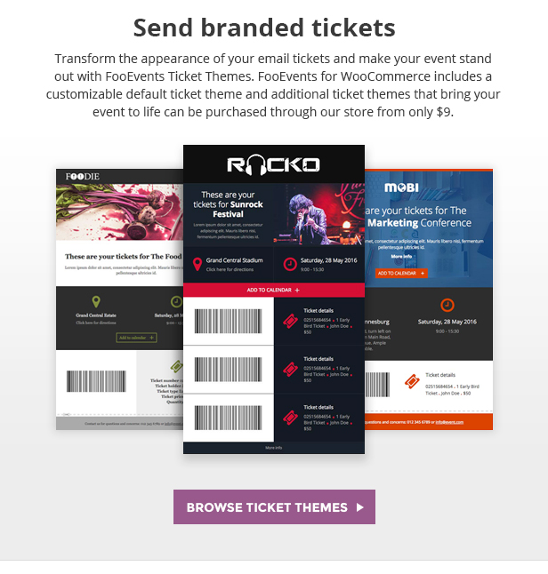 FooEvents Branded Email Tickets