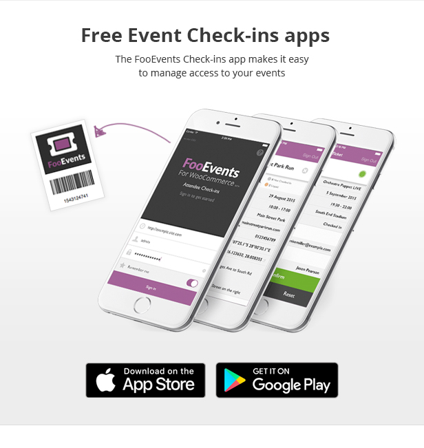 FooEvents Check-ins Apps