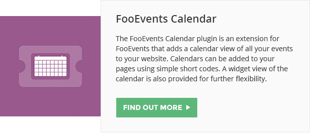 FooEvents Calendar
